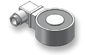 electromagnet in round design with connector